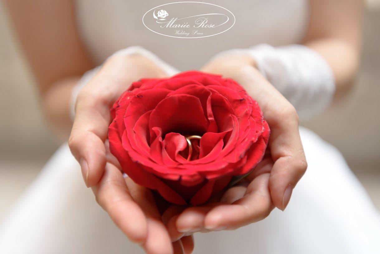 パリフォトウェディング、結婚指輪