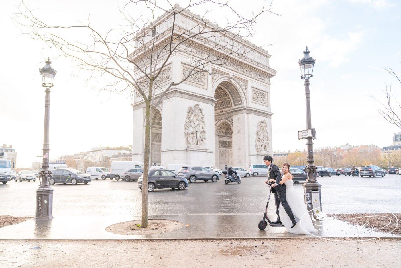 凱旋門,パリ,パリフォトウェディング