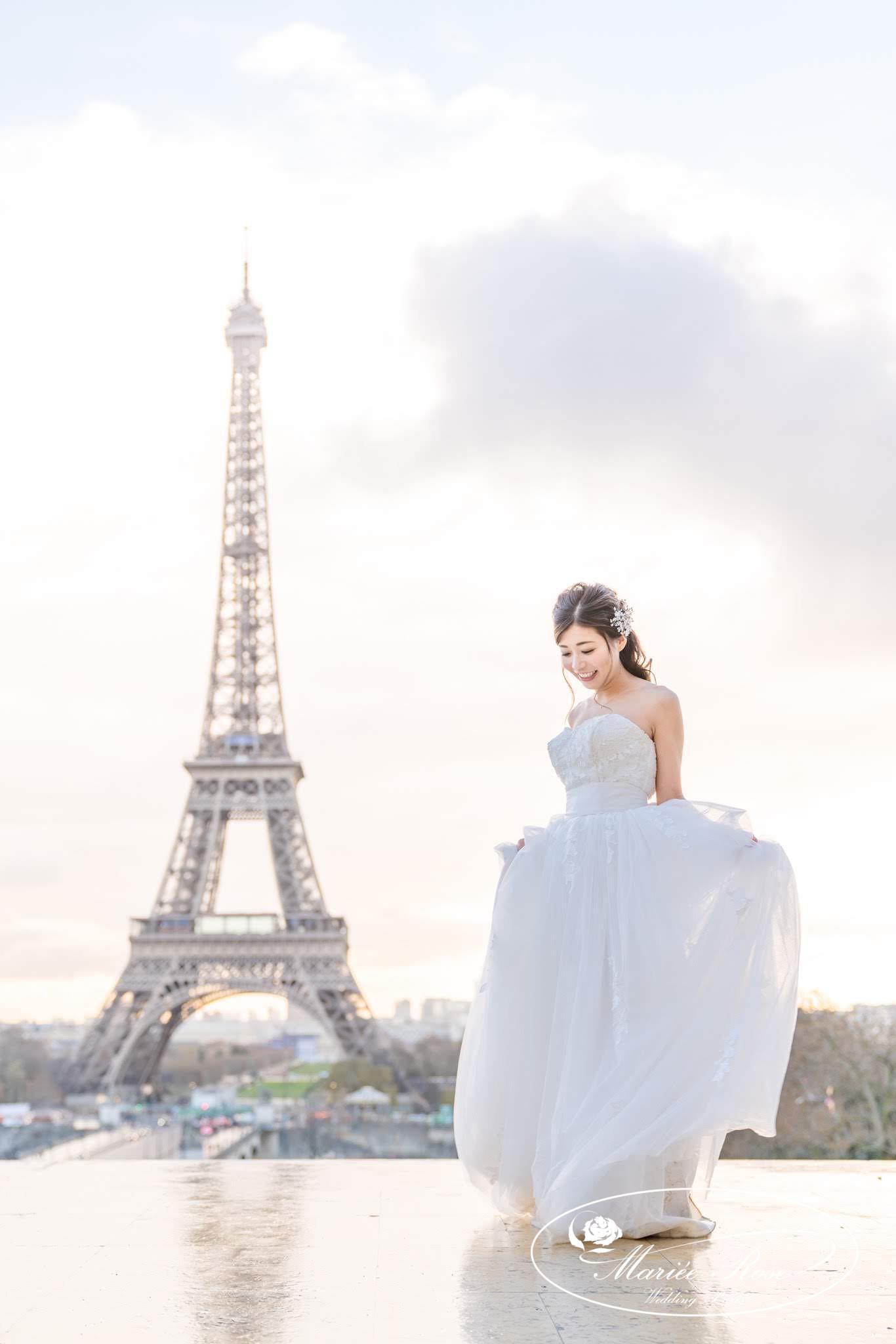 エッフェル塔,プレ花嫁,パリ前撮り