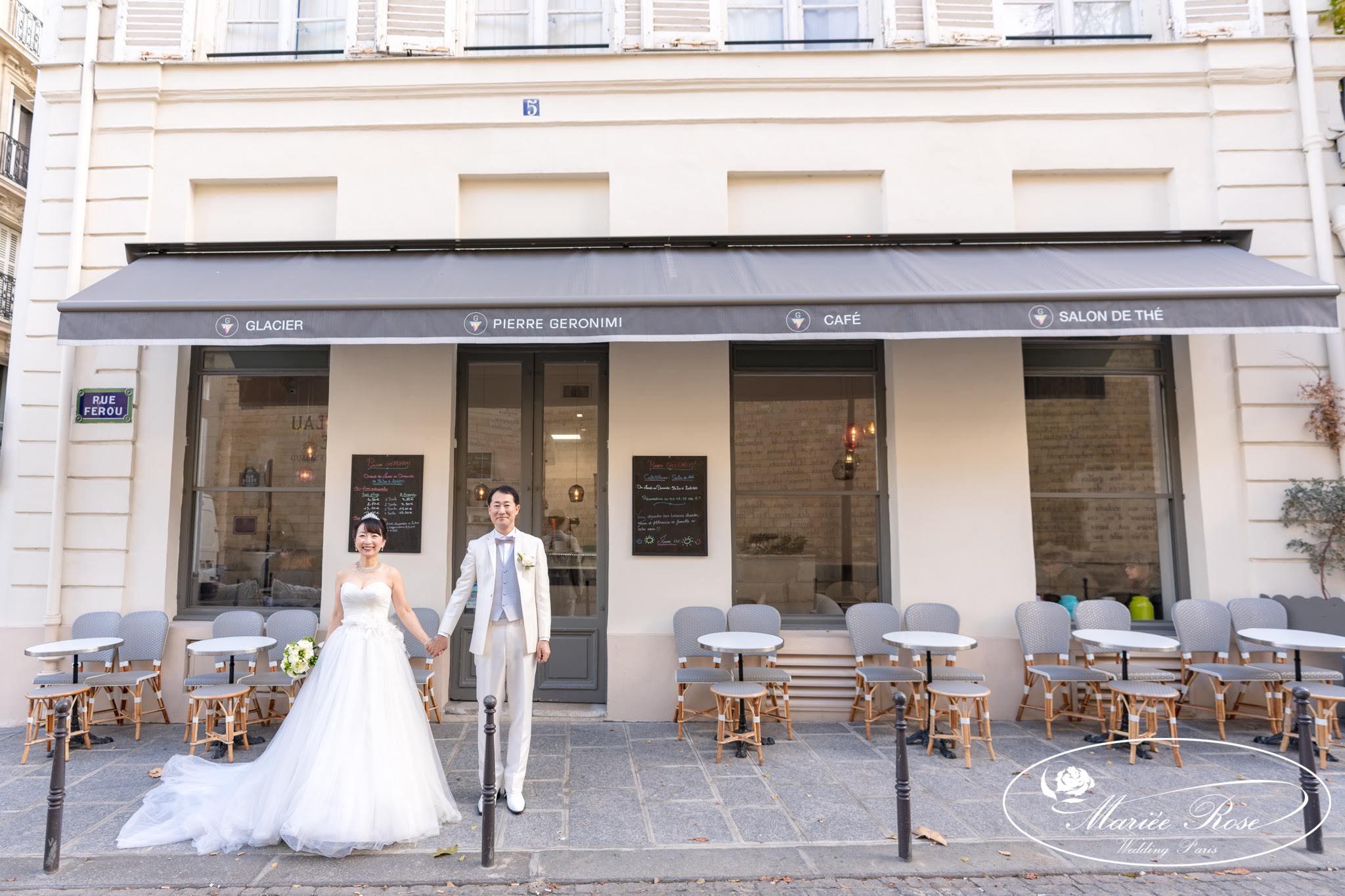 パリのカフェ,パリウェディング