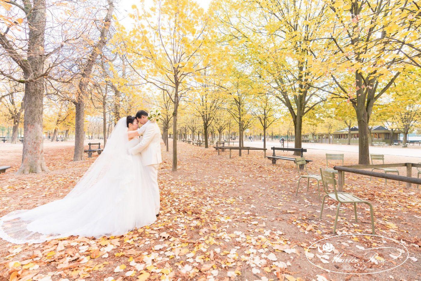 リュクサンブール公園,秋のパリ,パリフォトウェディング