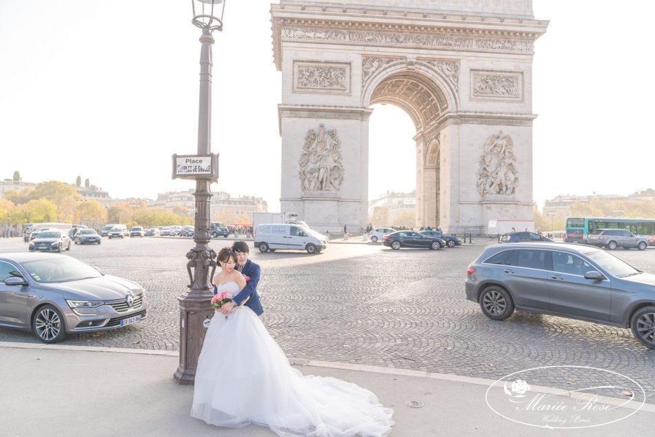 凱旋門,パリフォトウェディング,パリ前撮り