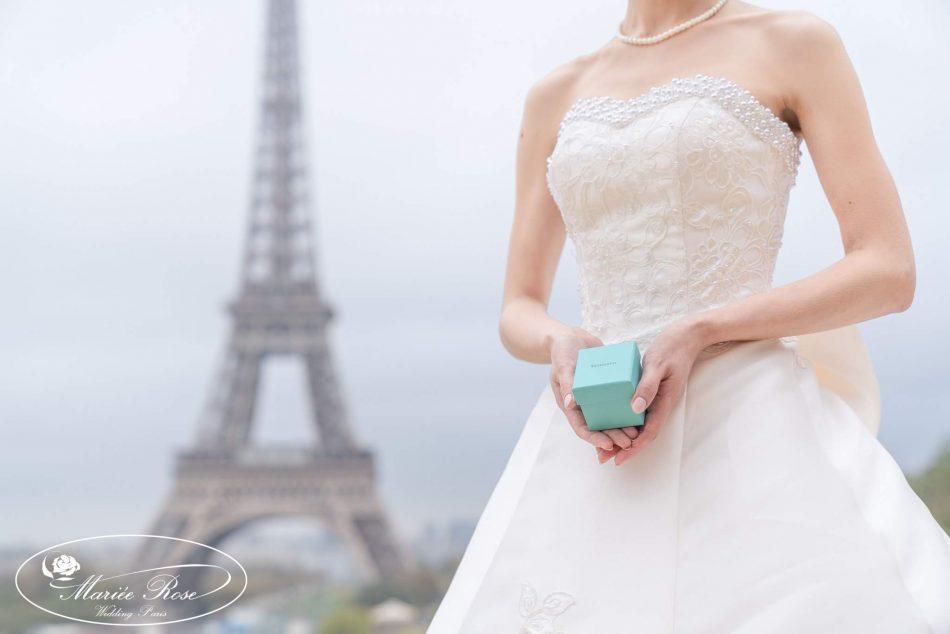 パリフォトウェディング,エッフェル塔,結婚指輪