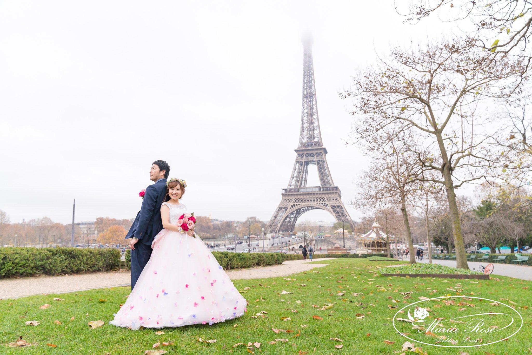 パリフォトウェディング,エッフェル塔,パリ前撮り