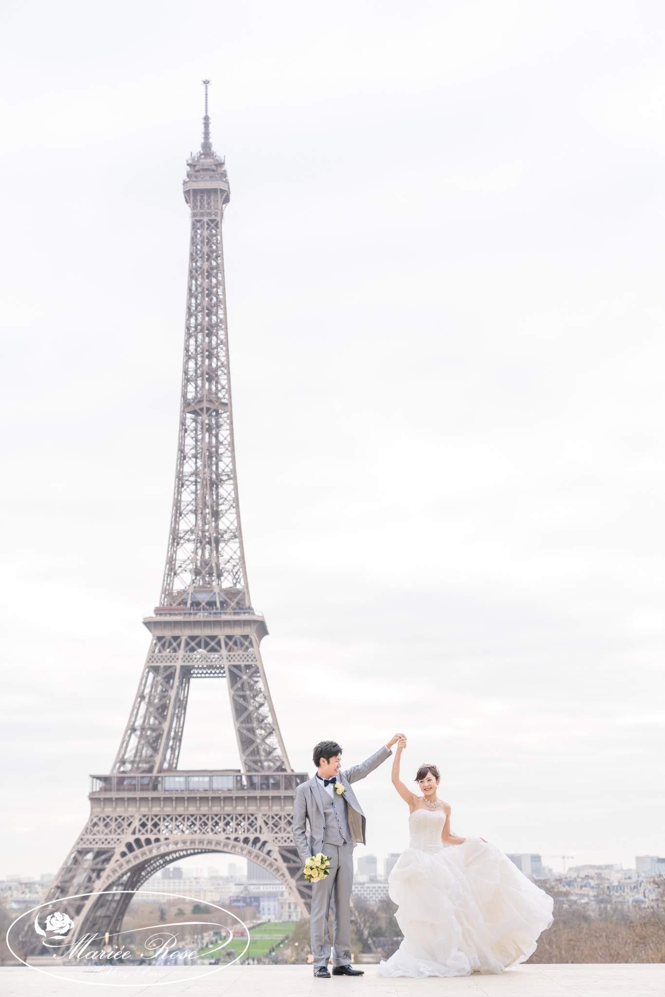 エッフェル塔,パリフォトウェディング,パリ前撮り,パリウェディング