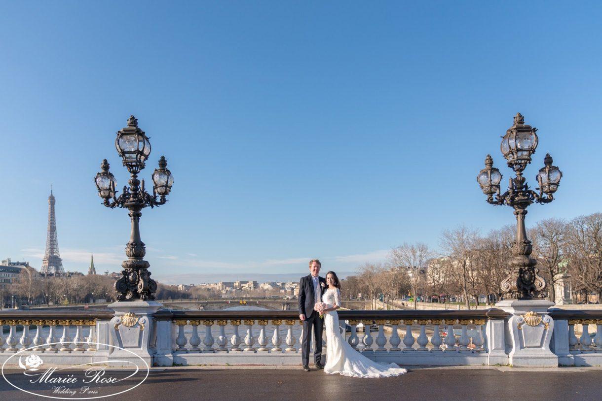 パリフォトウェディング,パリウェディング,パリ前撮り,アレクサンドル三世橋