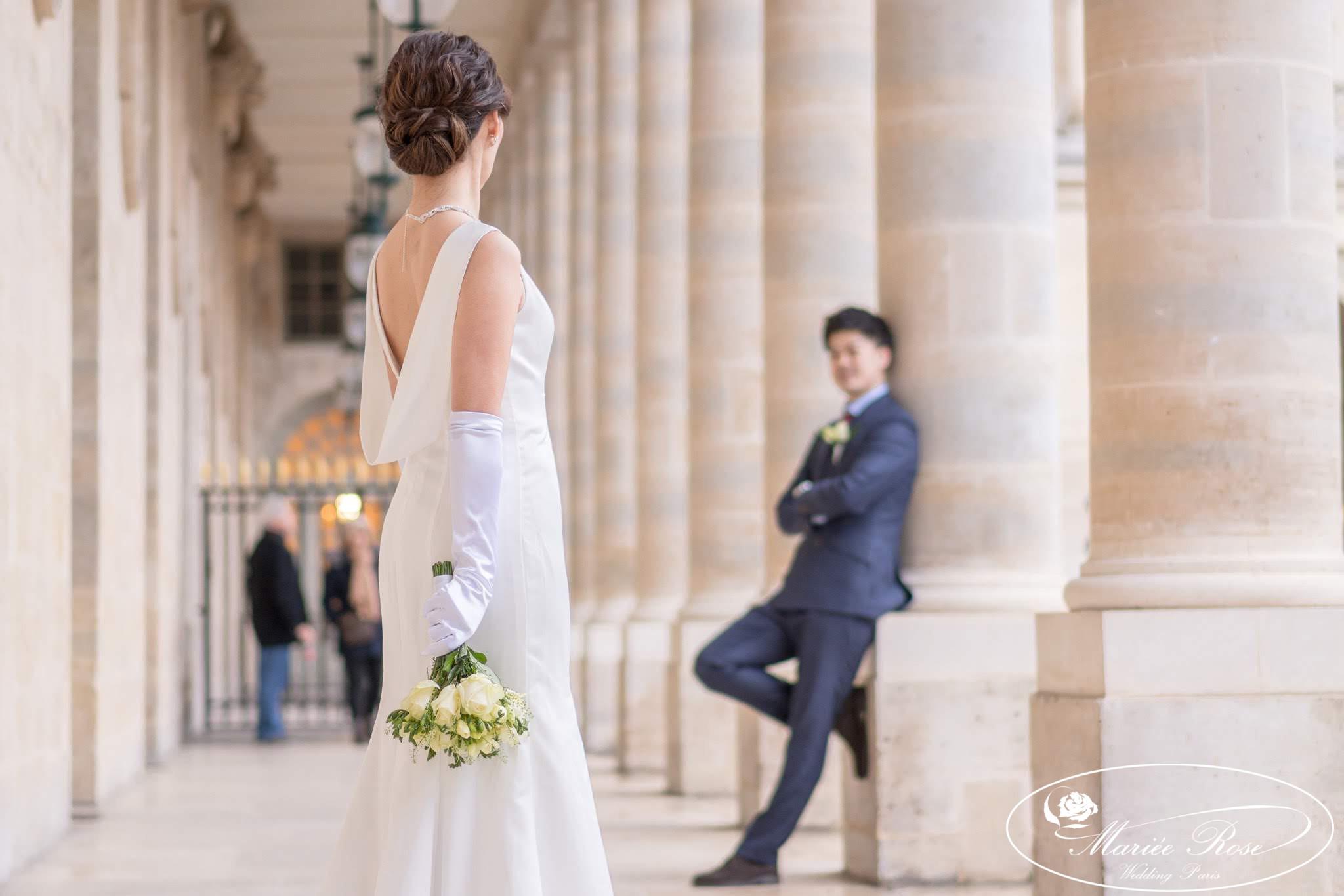 プレ花嫁ウェディングドレス